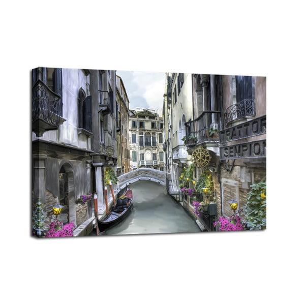 Canvas Watercolor Venice fali kép, 75 x 100 cm - Styler