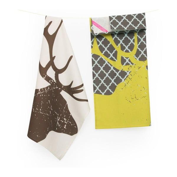 Set dvou utěrek Deer