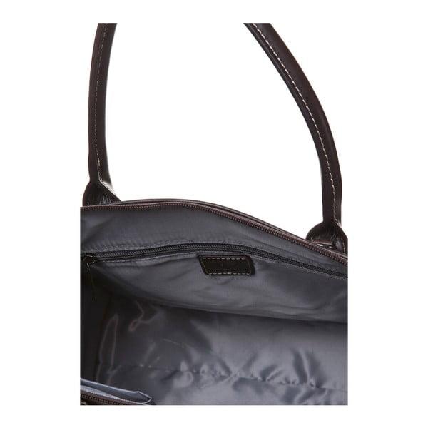 Kožená kabelka do ruky Canguru Pendant, hnědá