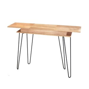 Konzolový stolek s úložným prostorem v dekoru v dubového dřeva 13CasaElektra