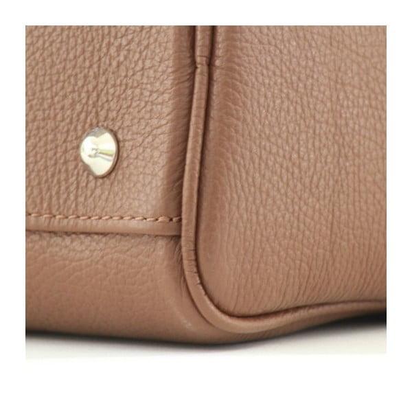 Kožená kabelka Dolce Diana Marrone