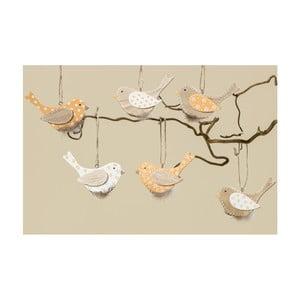 Sada 6 závěsných ptáčků Boltze Mija