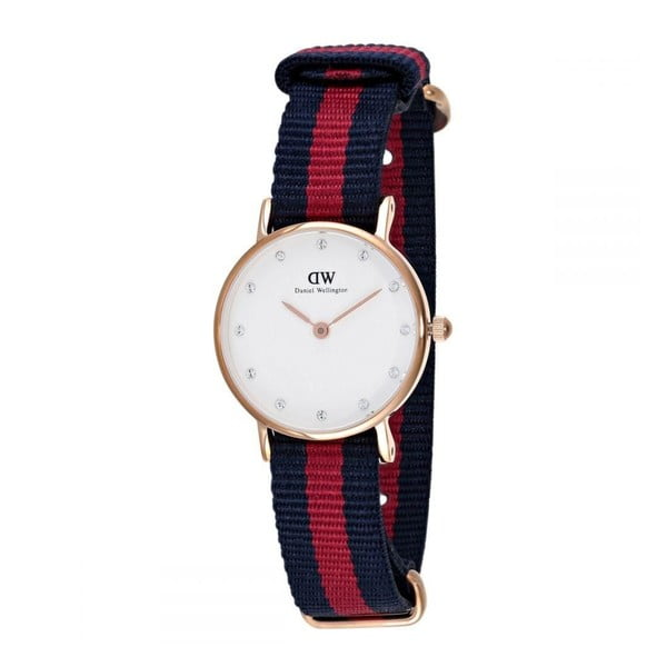 Ceas de damă Daniel Wellington Oxford Gold, ⌀ 26 mm, alb-roz auriu
