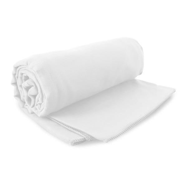 Set bílé rychleschnoucí osušky a ručníku DecoKing EKEA, 70 x 140 cm + 30 x 50 cm