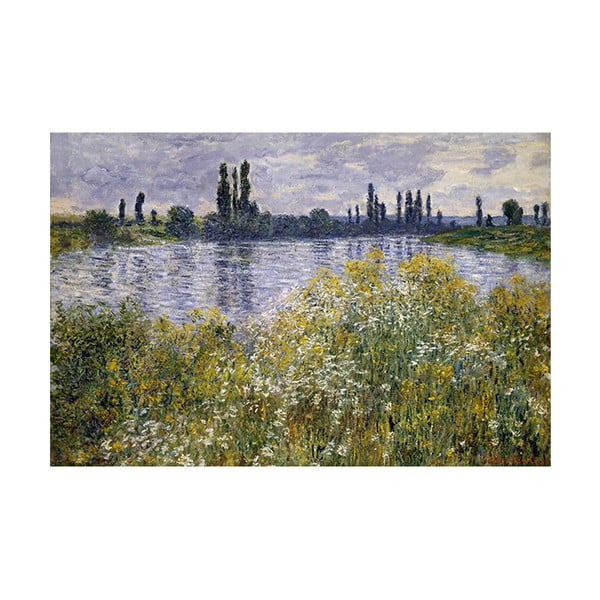 Obraz Claude Monet - Banks of the Seine, 90x60 cm