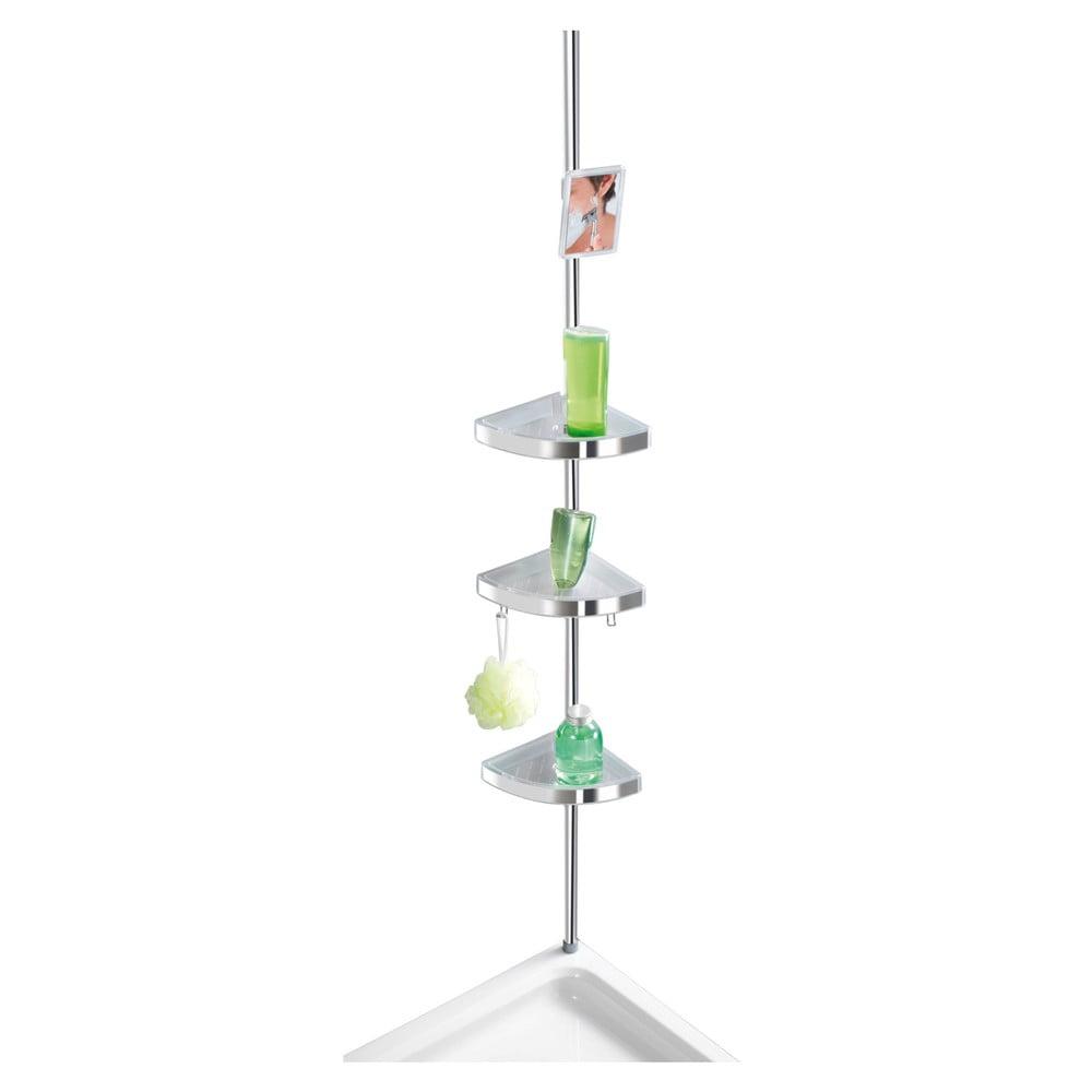 Světlá teleskopická nástěnná polička do koupelny Wenko Premium