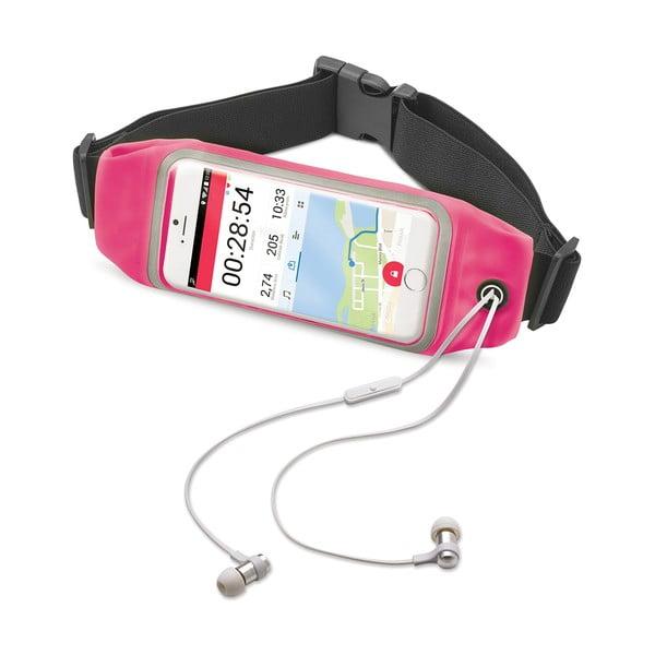 """Růžové sportovní neoprénové pouzdro Celly RunBelt View, pro telefony do 4.7"""""""