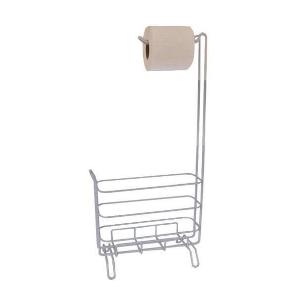 Držák na toaletní papíry, kovový, světlý