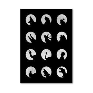 Plakát Wolf Night Off od Florenta Bodart, 30x42 cm