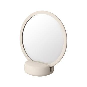 Oglindă cosmetică pentru masă Blomus, înălțime 18,5 cm, crem deschis