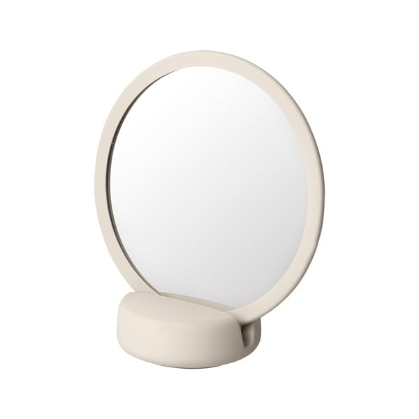 Krémové bílé stolní kosmetické zrcadlo Blomus, výška18,5cm