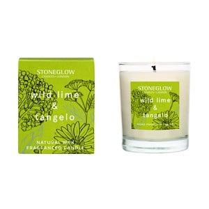 Svíčka s vůní citronové trávy a limetky Stoneglow, doba hoření 35 hodin