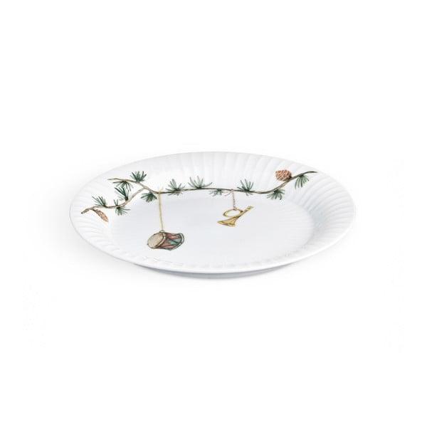 Porcelánový vánoční talíř Kähler Design Hammershoi Christmas Plate, ⌀ 19 cm