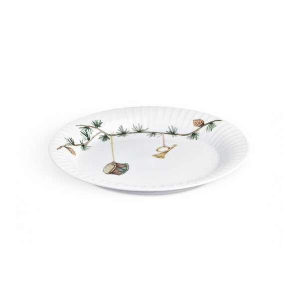Farfurie din porțelan pentru Crăciun Kähler Design Hammershoi Christmas Plate, ⌀ 19 cm