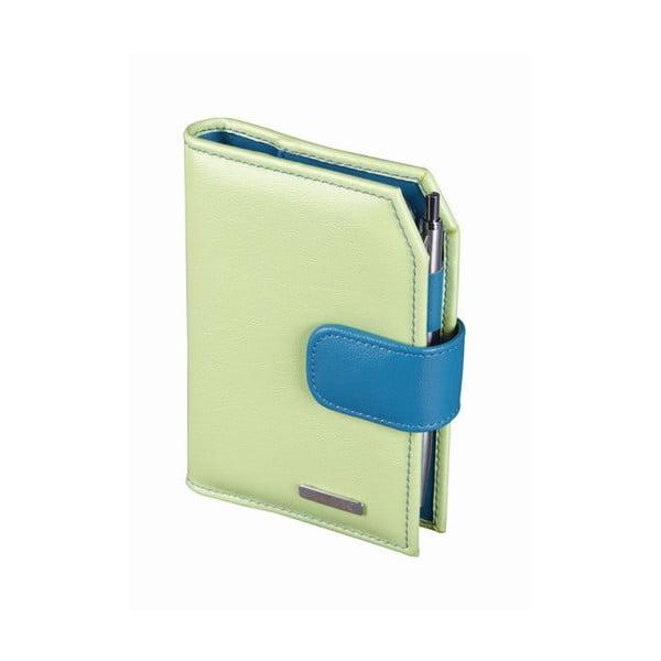 Diář ADK Finesa 2015, A7, zelený/modrý