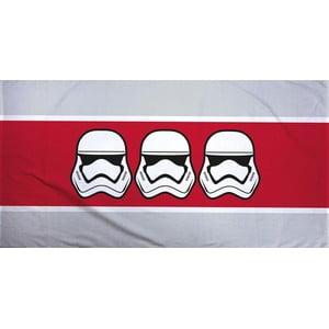 Červeno-šedý bavlněný ručník Halantex Star Wars, 70 x 140 cm