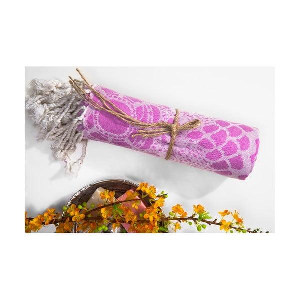 Hammam osuška Lace, růžová