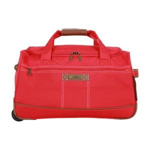 Červená cestovní taška do ruky Murano Adventure