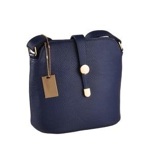 Modrá kožená kabelka Florence Bags Larissa