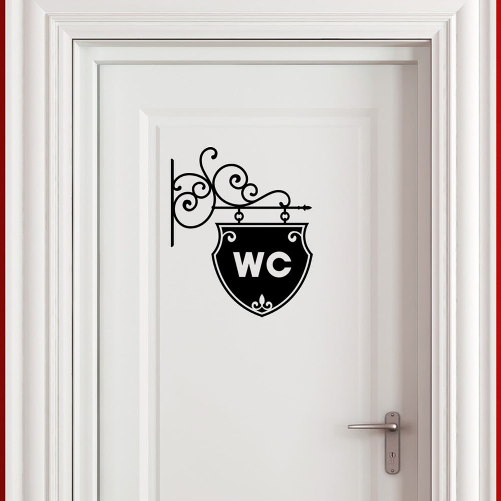 Autocolant ambiance old and chic wc bonami for Ustensile de wc
