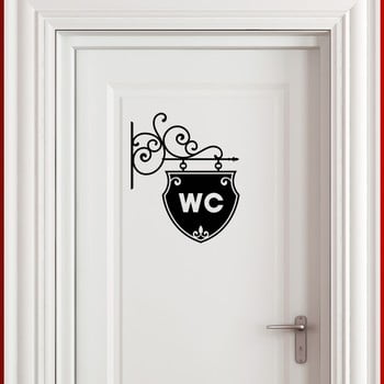 Autocolant Ambiance Old And Chic WC