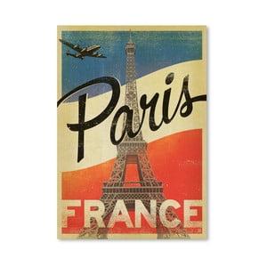 Plakát Americanflat Paris, 42 x 30 cm