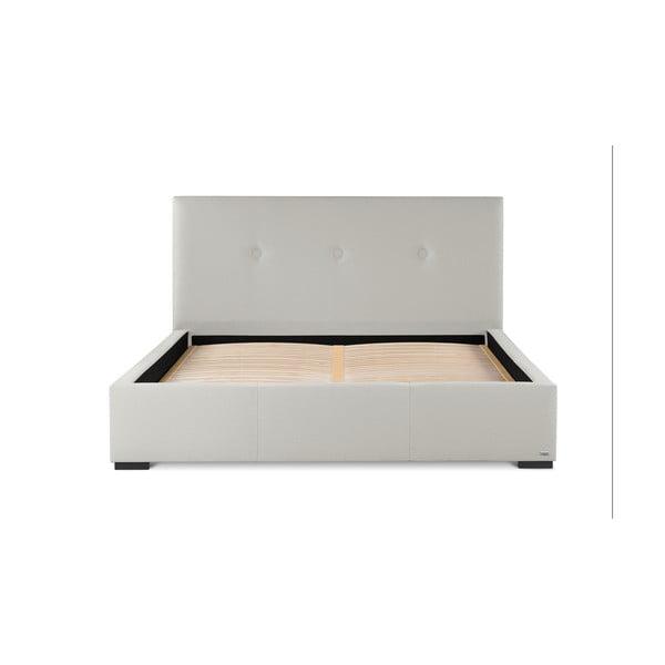 Krémově bílá dvoulůžková postel s úložným prostorem Guy Laroche Home Serenity, 160x200cm