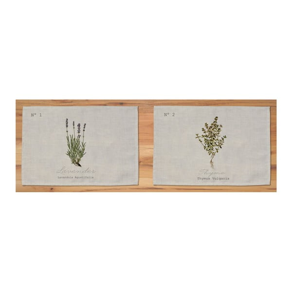 Zestaw 2 mat stołowych Surdic Lavender Thyme