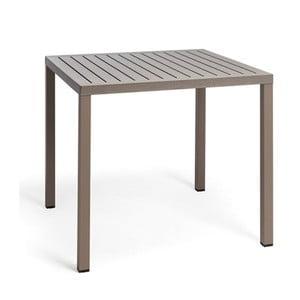 Béžovošedý zahradní stůl Nardi Garden Cube, 80x80cm