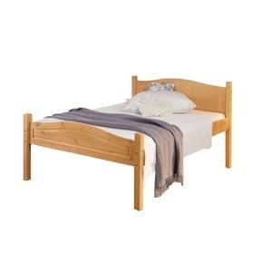 Pat din lemn masiv de pin Støraa Barney, 160 x 200 cm