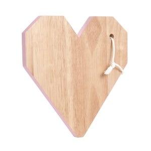 Krájecí prkénko Origami Heart Pink