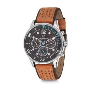 Pánské hodinky s hnědým koženým řemínkem Bigotti Milano Sporty