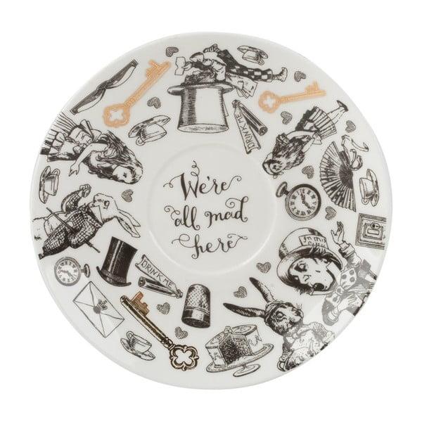 Porcelánový hrnek s podšálkem Creative Tops Alice in Wonderland, 210ml