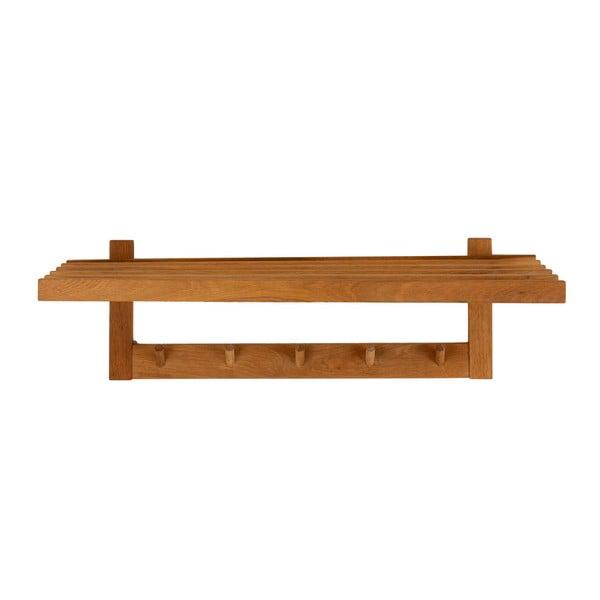 Wieszak ścienny z litego drewna dębowego Canett Uno, dł. 80 cm