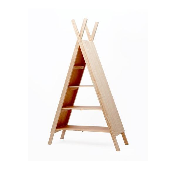 Dětská knihovna zborovicového dřeva Little Nice Things Teepee