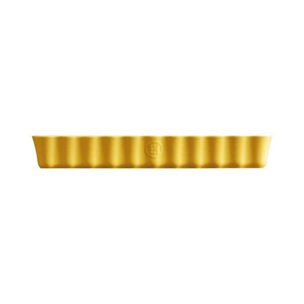 Formă dreptunghiulară pentru plăcintă Emile Henry, 24 x 34 cm, galben deschis