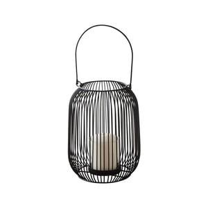Černá kovová lucerna Native Industrial, ⌀15 cm