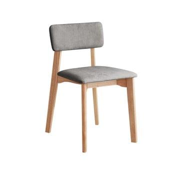 Scaun de birou cu șezut textil DEEP Furniture Max, gri deschis