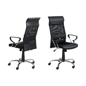 Černá kancelářská židle Actona Rosenheim