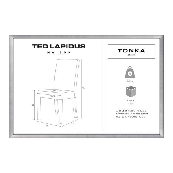 Scaun din lemn de fag Ted Lapidus Maison Tonka cu picioare maro închis, gri