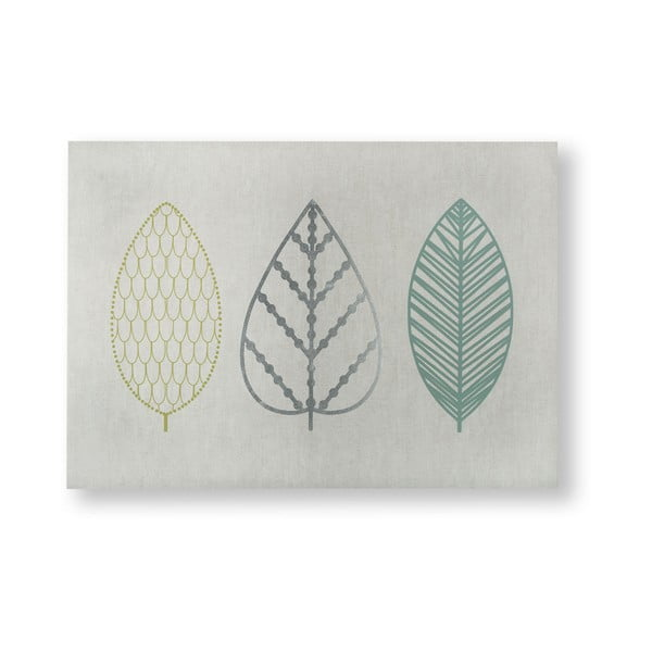 Obraz Graham & Brown Scandi Leaf Trio, 70x50 cm