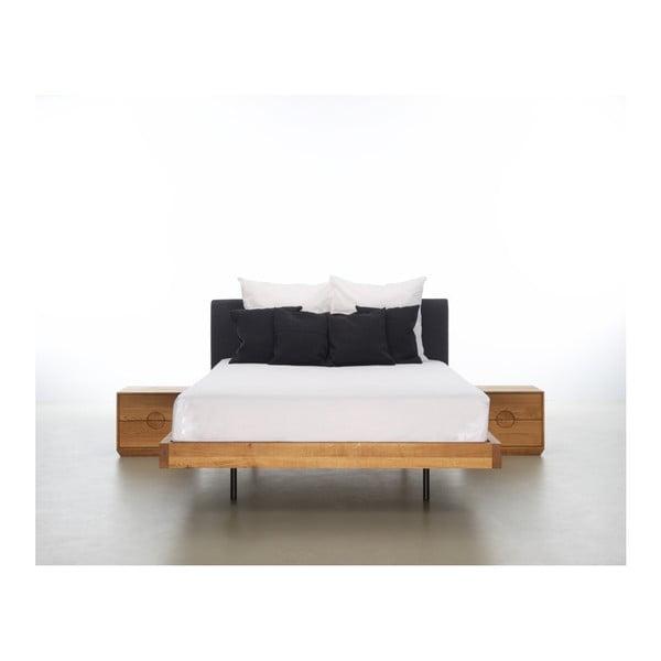 Postel z olejovaného dubového dřeva Mazzivo Smooth, 120x210cm