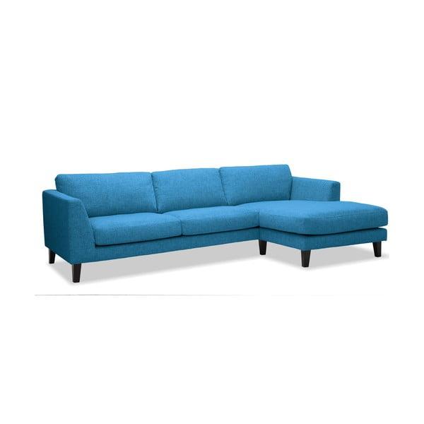 Pohovka Monroe s lenoškou na pravé straně, modrá
