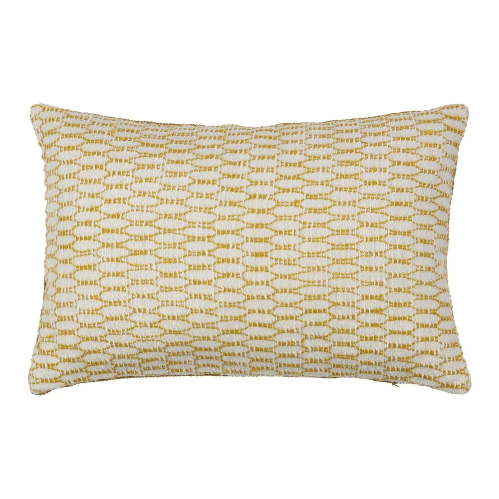 Oboustranný polštář BePureHome Ivory Mustard, 40 x 60 cm