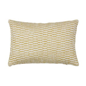 Oboustranný polštář BePureHome Ivory Mustard, 40x60cm