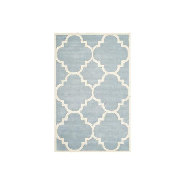 Vlněný koberec Greenwich 152x243 cm, světle modrý