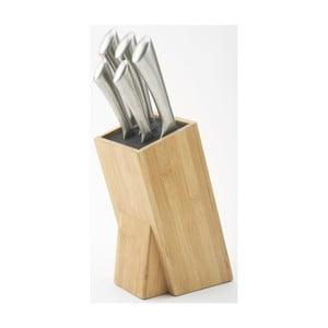 Sada 5 nožů a bloku na nože Jean Dubost Milenium Bamboo