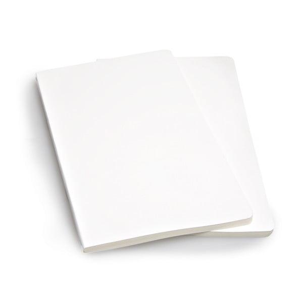 Sada 2 notesů Moleskine White, nelinkované 13x21 cm