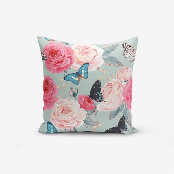 Față de pernă cu amestec din bumbac Minimalist Cushion Covers Lekeli Butterflys, 45 x 45 cm