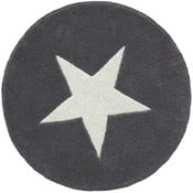 Šedý ručně tuftovaný vlněný koberec Linie Design Star,⌀130 cm